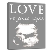 Ultrasound photo on canvas - perfect for the new parent.