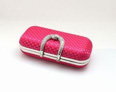 Stylish Knitting Handbag With Glaring Rhinestone Handle