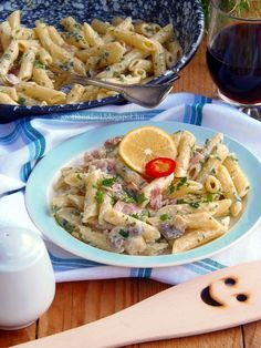 Krémsajtos baconos penne Meat Recipes, Recipies, Hungarian Recipes, Hungarian Food, Yummy Food, Tasty, Chow Mein, Cake Cookies, Penne