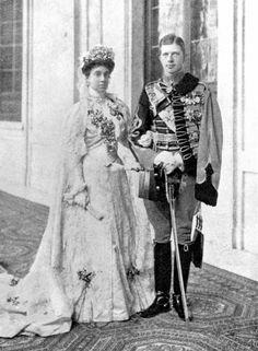 Infanta María de la Paz of Spain on her wedding to Prince Ludwig Ferdinand of Bavaria. 1883