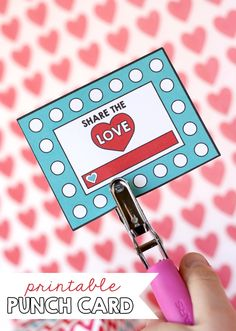 Encourage service and good behavior with these Printable Punch Cards - great for use at home or in the classroom! #printable #valentines from www.sisterssuitcaseblog.com