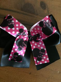 A personal favorite from my Etsy shop https://www.etsy.com/listing/223777468/minnie-mouse-inspired-hair-bow