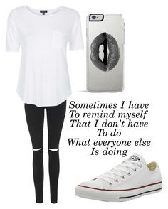 """""""Untitled #689"""" by maryanarivera ❤ liked on Polyvore featuring Topshop, Converse, Lipsy, women's clothing, women's fashion, women, female, woman, misses and juniors"""