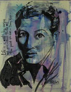 "Saatchi Online Artist: Sara Riches; Gouache 2013 Painting ""Danny Kaye"" #art  #dannykaye"