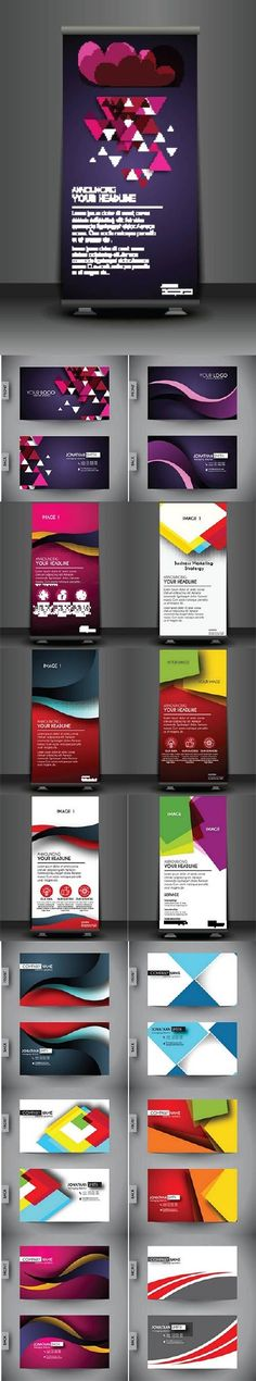 Business Cards and Corporate Roll up banner Flex Banner Design, Modern Graphic Design, Business Cards, Rolls, Clip Art, Templates, Marketing, Advertising, Lipsense Business Cards