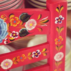 Mexican painted chair