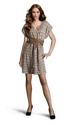 Vestido de punto y metálico, de Hoss Intropia