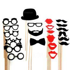 Hochzeitsdekor - $13.89 - Lustige Maske Bart- Karton Papier Fotokabine Requisiten (22 Stück) (131046670) http://amormoda.de/Lustige-Maske-Bart--Karton-Papier-Fotokabine-Requisiten-22-Stueck-131046670-g46670