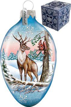 Reindeer Egg Ornament