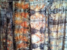 """India Flint - cloth and colour/ I work with cloth, paper, felt, weaving, stitch and bio-regionally gathered ecologically sustainable dyes - a rather long-winded way of saying """"windfallen leaves, bark and earth pigments""""."""