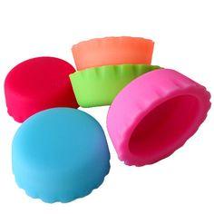 Cool Trends Plastic Bottle Caps (set of 5pc) multi color