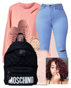 """""""Sneakin' -Drake"""" by pettypitty ❤ liked on Polyvore featuring FOSSIL and Moschino"""