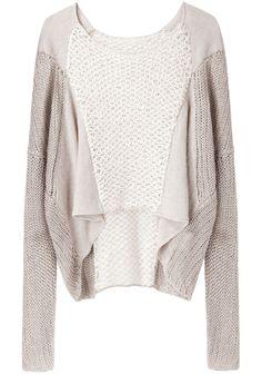 Helmut Lang / Crop Front Linen Sweater