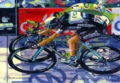 PAINTING LE TOUR: How good are these paintings capturing the moments by Rob…