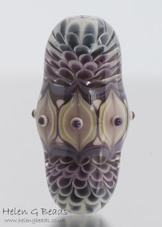 Large Petal Reflection Focal Lampwork Bead by helengbeads on Etsy, £55.00
