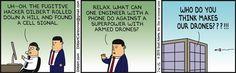 Drones Attack Dilbert - Dilbert by Scott Adams