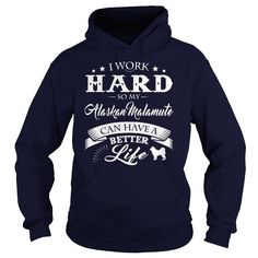 Alaskan Malamute T Shirts, Hoodies. Check price ==► https://www.sunfrog.com/LifeStyle/Alaskan-Malamute-124284989-Navy-Blue-Hoodie.html?41382