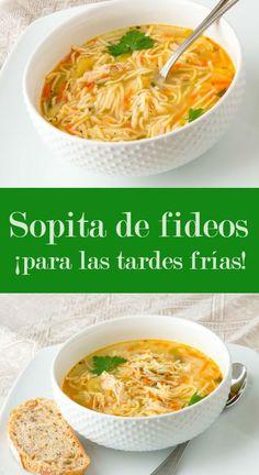 Receta fácil de sopa de fideos | CocinaDelirante