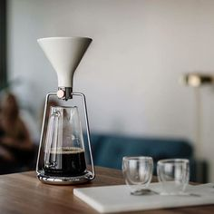 Anze Miklavec is raising funds for GINA: Smart coffee instrument / by GOAT STORY on Kickstarter! The first smart coffee instrument with a built-in scale and an app enables you to brew coffee with pour-over, immersion and cold drip. Coffee Dripper, V60 Coffee, Coffee Mugs, Bunn Coffee, Coffee Tin, Coffee Tables, Coffee Cafe, Coffee Drinks, Coffee Shop