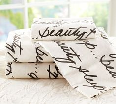 Beauty Sleep Organic Flannel Sheet Set | Pottery Barn