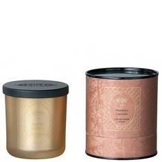 FRÖJD Candle- Mandarin Coriander glass dark gold