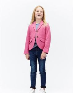 Joules Tweed Jersey Jacket, Ruby Herb.                     We love this tiny jersey jacket that's half lined with our hand-drawn pony club print. Smart but machine washable we're sure you will too.