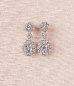 Pendientes de novia pendientes de boda cristal por CrystalAvenues