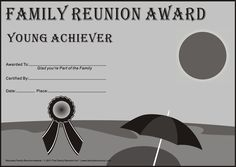 reunion activities family reunion certificates beach party 15 is a free family reunion