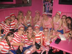 Where's Wally hen party hen night themed fancy dress idea
