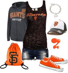 SF Giants I would wear this whole outfit but the shorts I hate shorts that short on me
