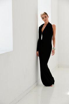 Formal Maxi Dress / One Shoulder Dress / Black Dress / Prom Dress / Cocktail Dress / Unique Designer Dress / Marcellamoda - Abendkleid / Schwarzes Kleid / One-Shoulder-Kleid / Dress First, The Dress, Fancy Dress, Prom Dresses, Formal Dresses, Dress Prom, Unique Dresses, Backless Dresses, Long Dresses