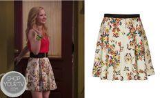 Liv & Maddie: Season 1 Episode 2 Liv's White Floral Print Skirt | ShopYourTvShopYourTv