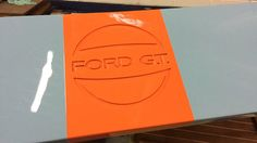Ford GT40 Gulf theme swimming platform forspeedboat! Awesome!