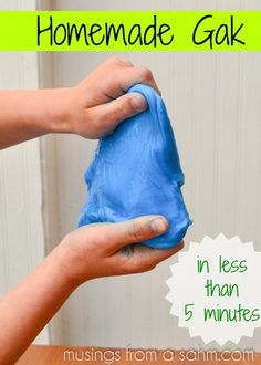 Homemade gak {science crafts for kids}