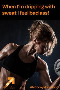 Sweat detoxifies your body, is good for your skin & releases awesome endorphins. Go ahead, feel bad ass! Inspiration For The Day, Fitness Inspiration, Healthy Energy Drinks, Detoxify Your Body, Natural Energy, How To Increase Energy, Monday Motivation, Badass, Health Fitness