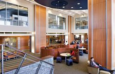 "college library architecture | The Pierce College Library , Lakewood, WA, is ""zoned"" to encourage ..."