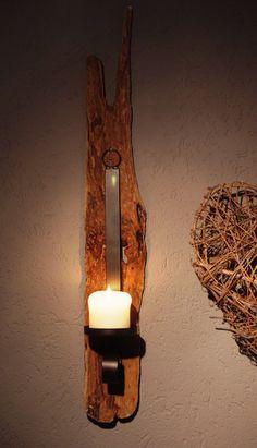 Treibholz Wand-Kerzenhalter von Driftwood & Stones auf DaWanda.com