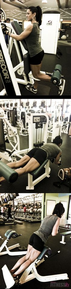 Hamstring workout..this girl has muscles! Dang! Not overkill though. Goal!!