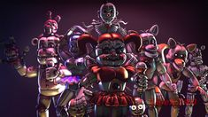There was a lot of new models on the workshop, there was new animatronics on the Custom Night update of the game and I got improved in Source Filmmaker,. Fnaf 5, Freddy 's, Fnaf Wallpapers, Fnaf Sister Location, Circus Baby, Fnaf Characters, Computer Wallpaper, Five Nights At Freddy's, Filmmaking