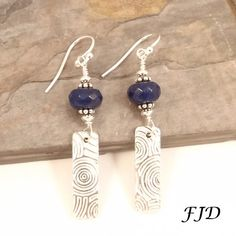 Fine Silver Jade and Sterling Silver by FelicityDesignsLLC on Etsy