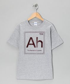 When it's time to assemble a casually cool outfit for school or playground wear, there's nothing more treasured in a kid's closet than a comfy all-cotton tee. This one's hilarious message makes it more than just a shirt—it's a clever conversation piece! 100% cottonMachine wash; hang dryImported