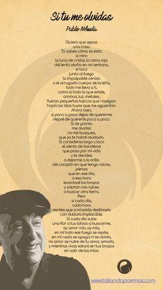 ▷ SI TU ME OLVIDAS »【Pablo Neruda】+ ANÁLISIS