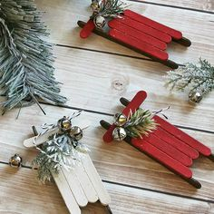 These are lovely and simple Christmas home décor made using cheap articles like popsicle sticks and other decorative.