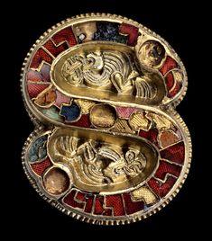 Fibula Lombard, VII AD. Gold, silver, precious stones. National Archaeological Museum, Cividale del Friuli.