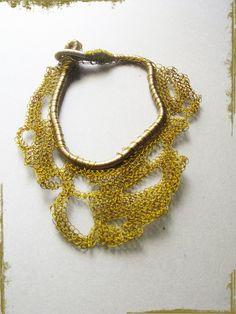 Wire jewelry wire necklace wire crochet crochet by WearitCrochet Artist from Greece
