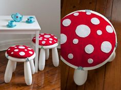 Toadstool Stool Covers for Ikea stools!