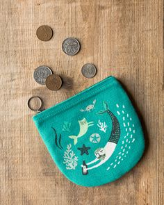 The Danica Studio Sea Spell Halfmoon Pouch is perfect for holding loose change, cards, keys, hair pins and more. Zipper Pouch, Handbag Accessories, Travel Style, Travel Bags, Cosmetic Bag, Spelling, Hair Pins, Keys, Coin Purse