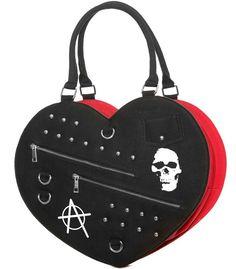 Jawbreaker Big Punk Heart Handbag