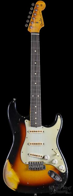 Fender Masterbuilt John Cruz 1960 Relic Stratocaster Wide Faded Three Tone Sunburst - Wild West Guitars