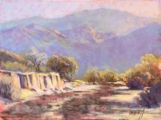 Desert Wash (pastel) by Brenda Boylan